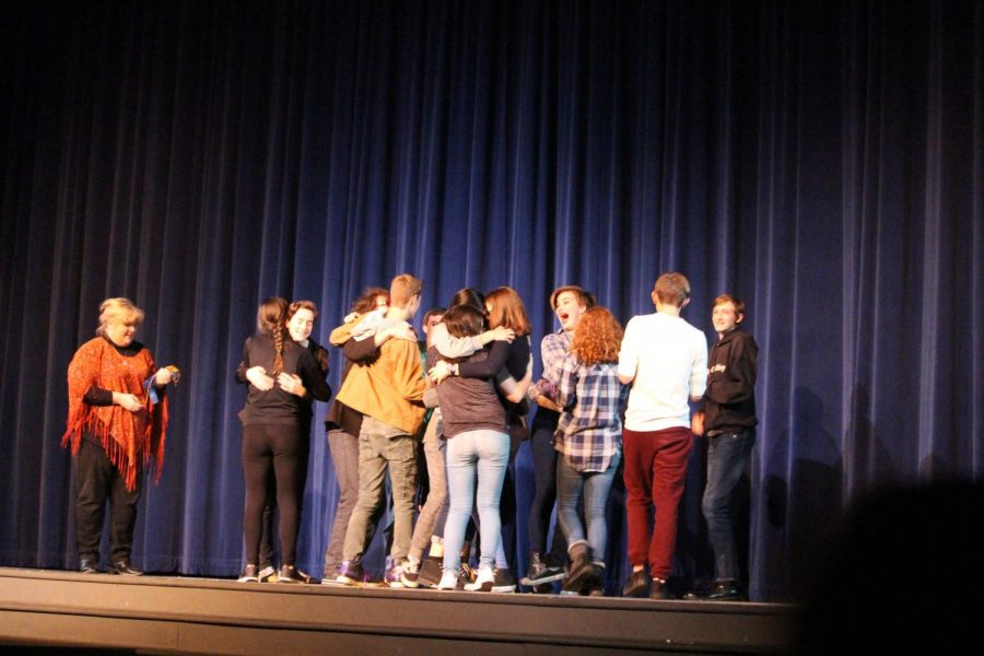 %22A+funny+thing+happened+on+the+way+to+fifth+period%22+cast+accepting+their+award+on+November+11th+in+the+Gresham+high+school+auditorium.+