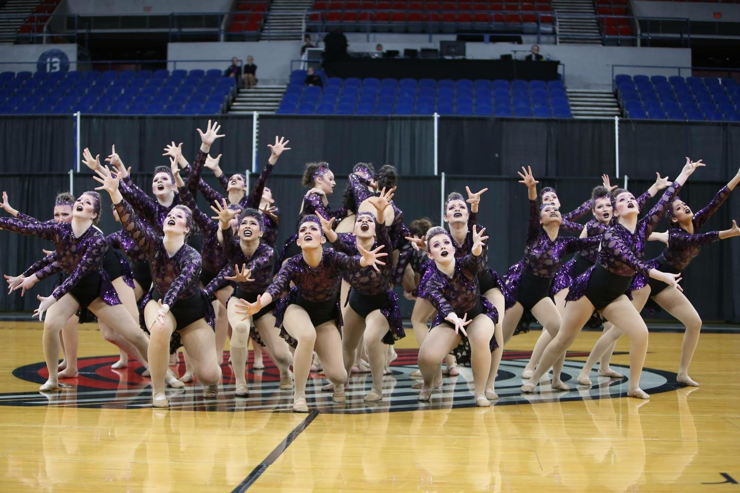 The Rhythmettes Dance Team at State competition