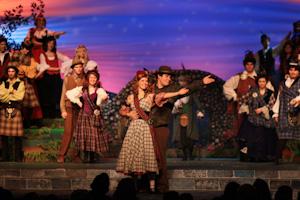 Actors in Brigadoon perform believable romances onstage