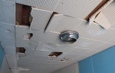 The school is falling apart, in need of repair
