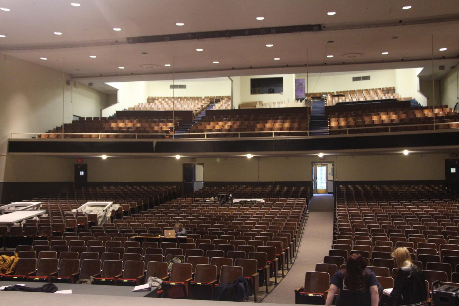 The auditorium at Gresham high school that will be torn down soon. It contains many memories of past productions and people working really hard to make them as best as they can.
