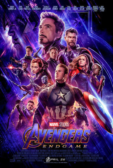 The poster for Avengers: Endgame.