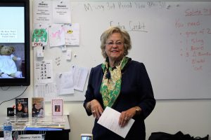 Ruth Lindemann comes to GHS to speak to students.