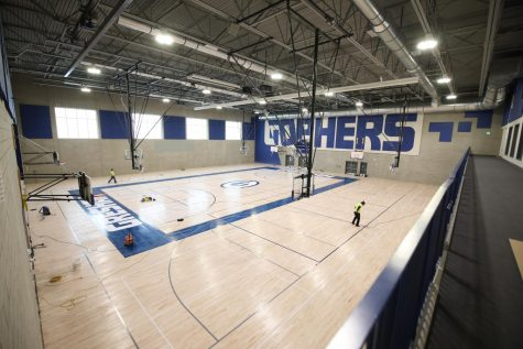 The new gym as it gets its final clear coat.