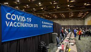 The Oregon Convention Center has been turned into a vaccination center and has reached up to 15,000 vaccinations per day.